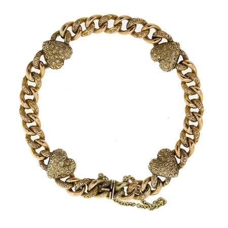 Antique Heart Bracelet