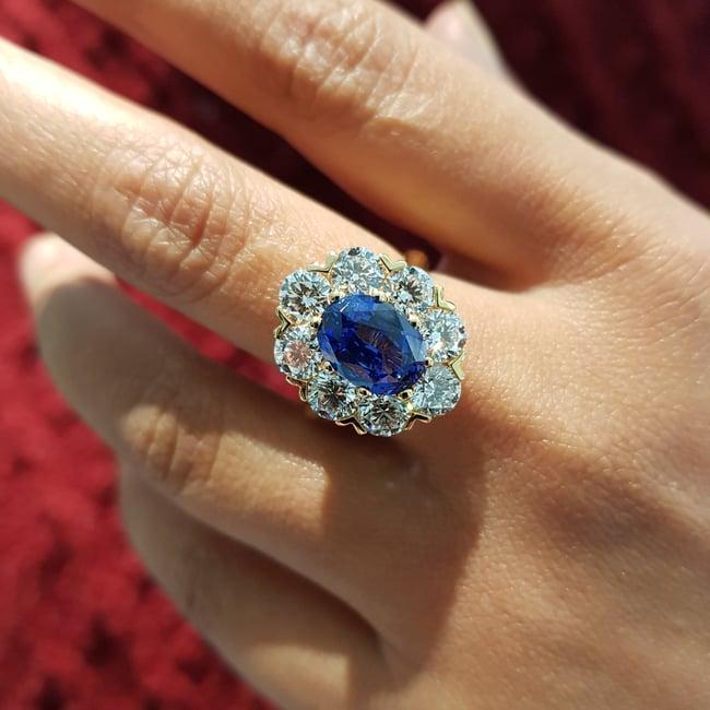 Bloom Sapphire & Diamond Ring-1