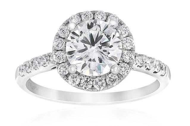 Aria Halo Engagement Ring by Gerard McCabe