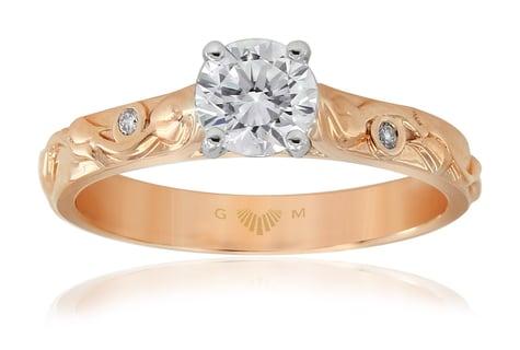 Gerard McCabe - Solitaire Rose Engagement Ring