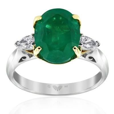 Emerald Lyre Ring-Gerard McCabe