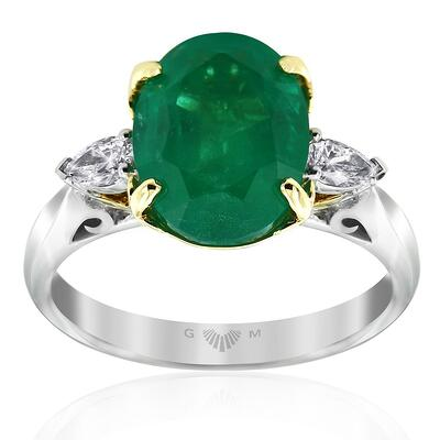 Emerald Lyre Ring-Gerard McCabe
