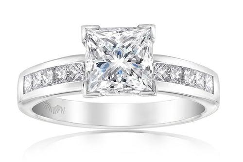 GMAC Princess cut diamond ring