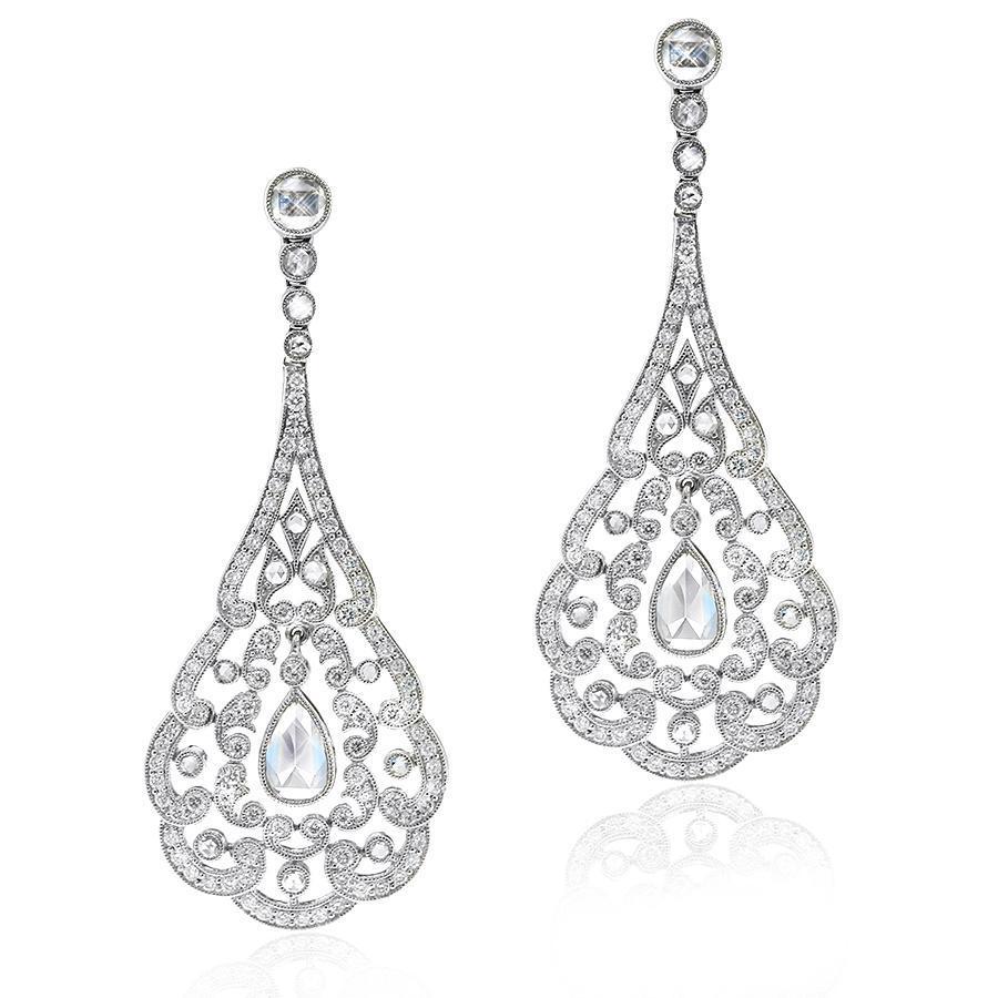Gerard McCabe Diamond Chandelier Earrings