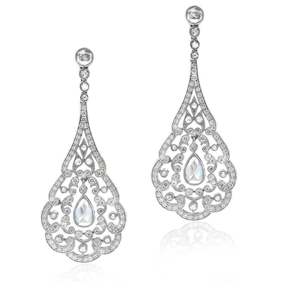 Gerard McCabe Diamond Chandelier Earrings