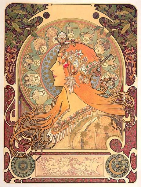 Gerard McCabe Mucha Art Nouveau