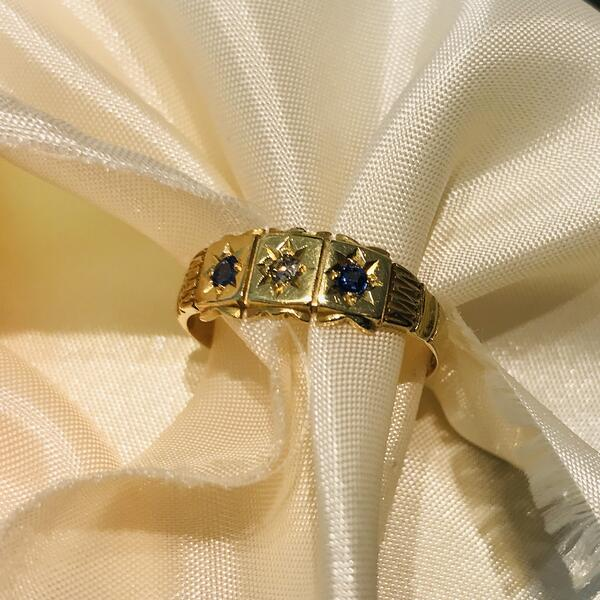 Gypsy Ring Sapphire and Diamond