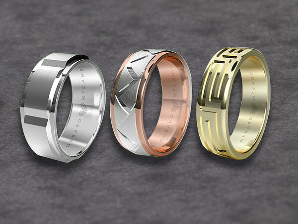 Gold mens wedding ring