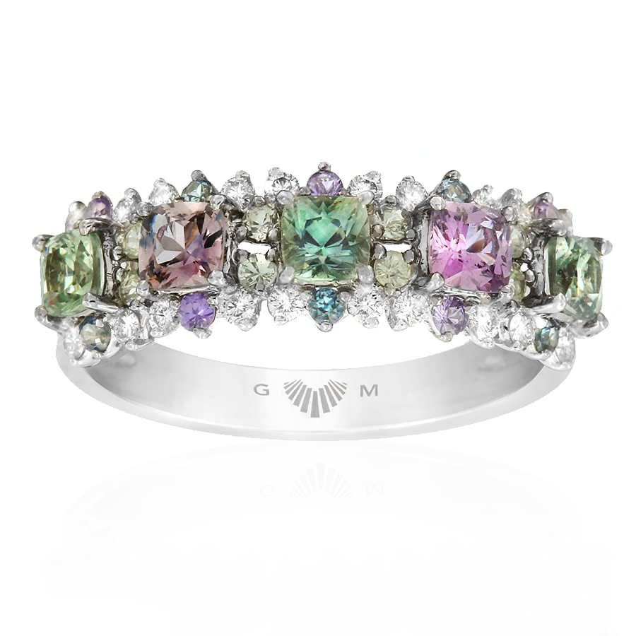 Cirque Multi-Colour Sapphire Ring