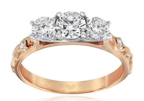 Gerard McCabe Trinity Rose Diamond Ring - Rose Gold