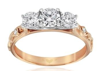 Trinity Rose Diamond Ring