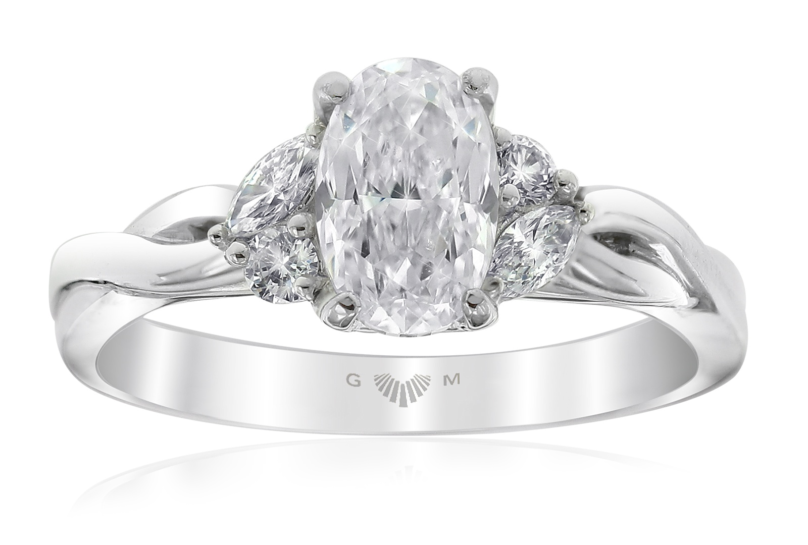 Embrace Oval Cut Engagement Ring