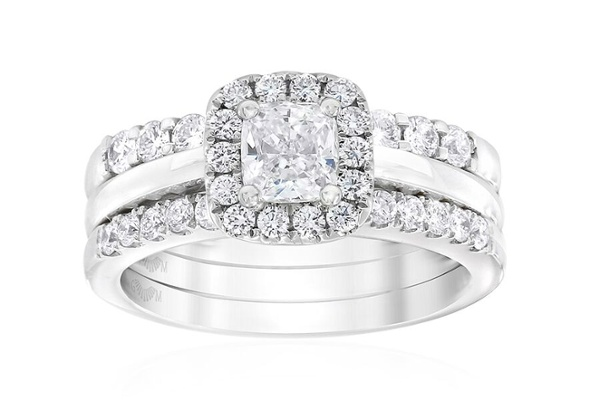 Gerard McCabe Aura Classic Cushion Cut Engagement and Wedding Ring