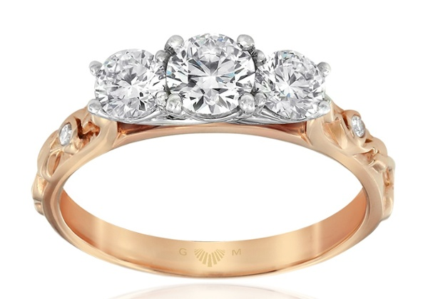Trinity Rose Engagement Ring